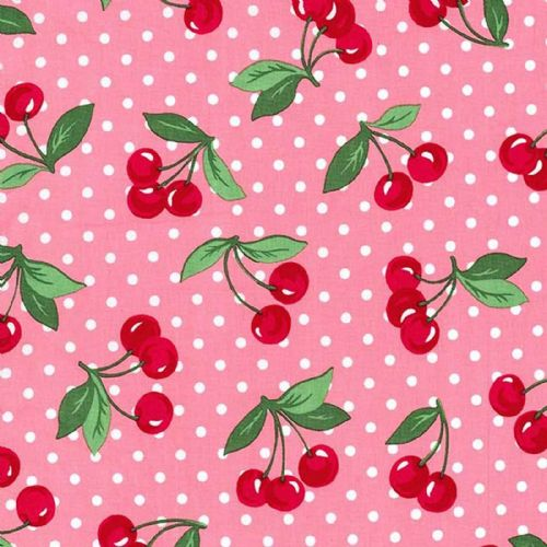 Michael Miller - Cherry Dot (Pink) Fabric